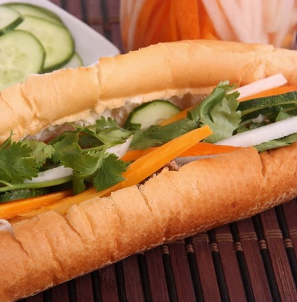 Vietnamese baguette sandwiches