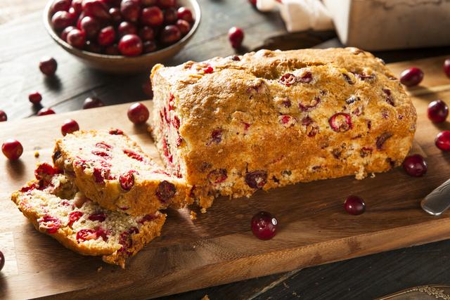 Cranberry and orange walnut bread