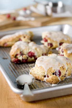 Cranberry cookies with orange zest