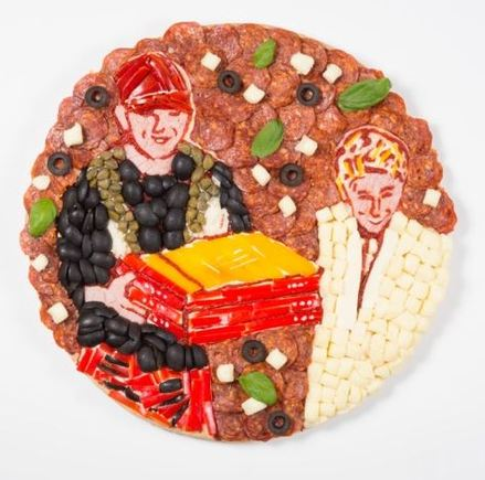 Ellen and the pizza delivery man