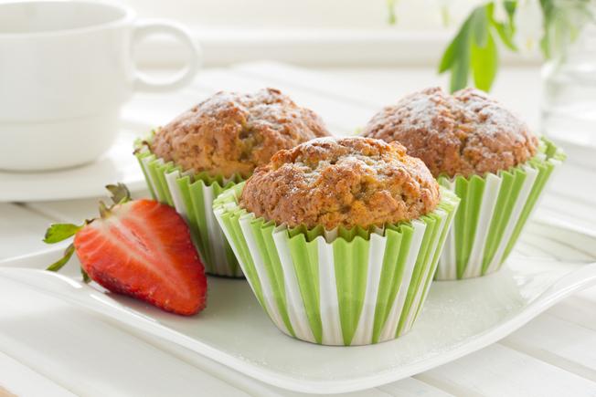 Strawberry and banana muffins