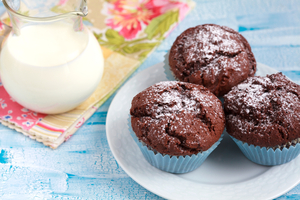 Quick eggless chocolaty muffins