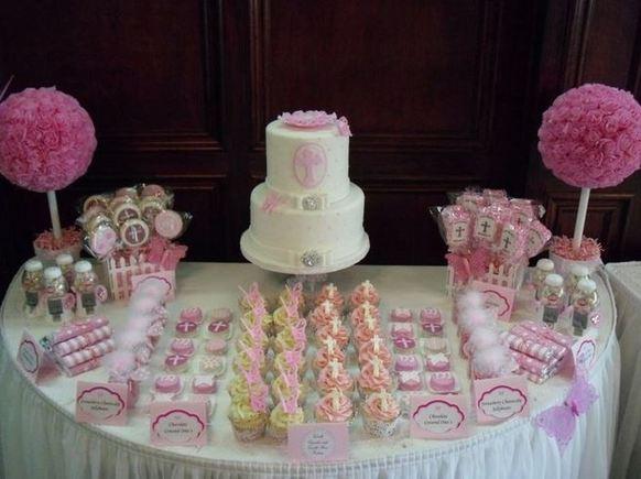 A dessert table