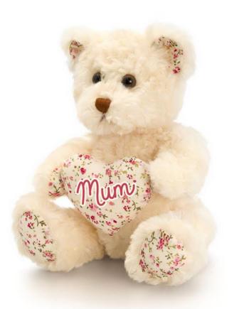 Belle Rose Bear with Heart