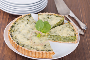 Savoury cheese quiche