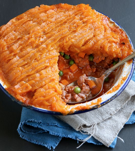 Sweet and savoury potato pie
