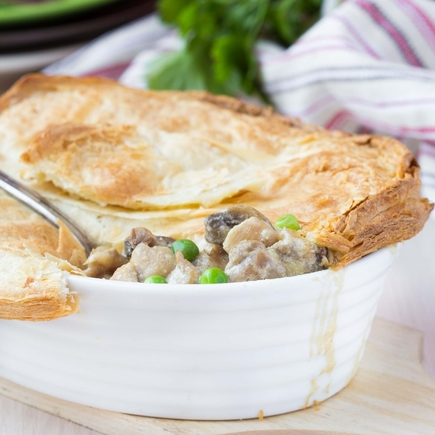 Risotto and mushroom pie