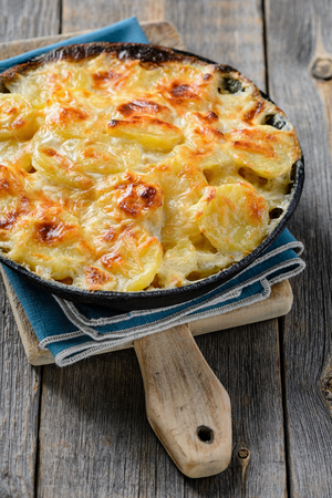 Smoked fish and potato gratin