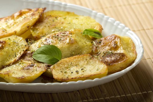 Crispy herb and lemon potatoes