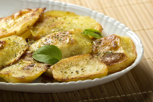 Crispy herb and lemon potatoes
