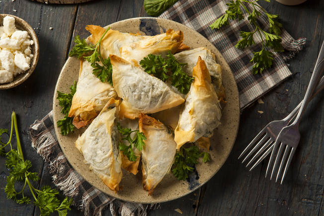 Goat's cheese and vegetable snacks