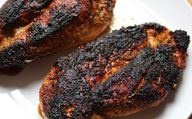 Blackened Cajun chicken