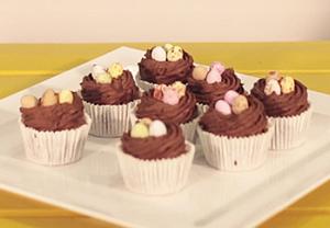 Nest cupcakes