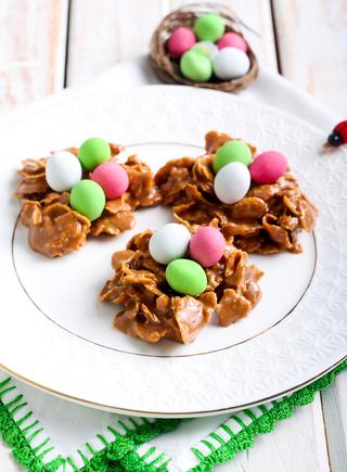 Chocolate cornflake mini nests