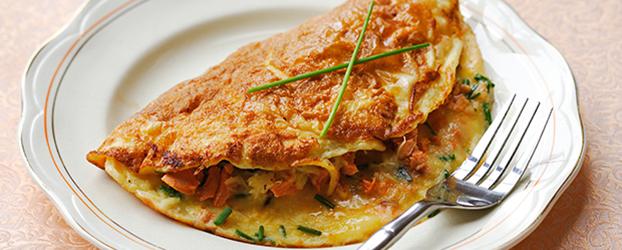 John West Salmon Omelette