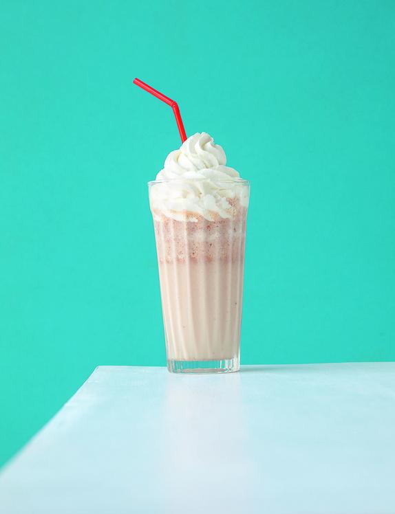 Praline milkshake and chantilly cream