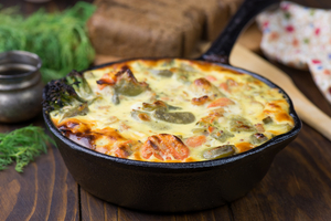 Mediterranean seafood gratin