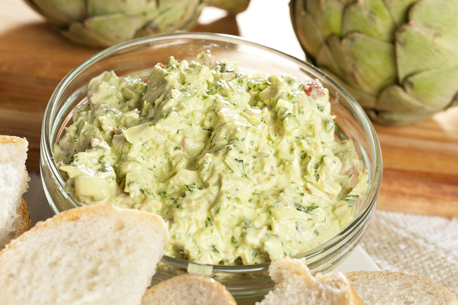 Artichoke and spinach dip
