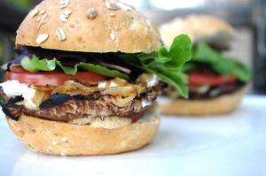 Massive mushroom burger