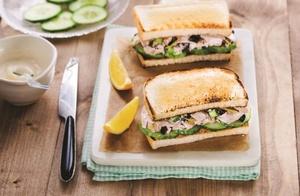 Mediterranean tuna toastie