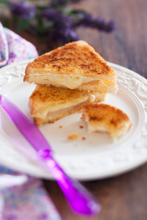 Fried camembert sandwiches
