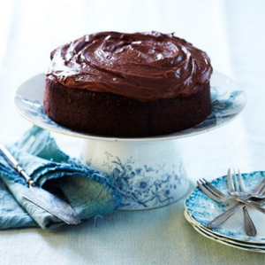 Sweet and sour dark chocolate buttermilk cake
