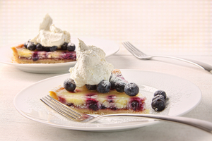 Lemon and blueberry tart