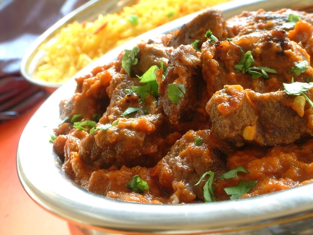 Spiced beef Indian curry