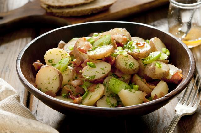 Crispy bacon and potato salad