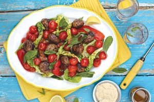 Paul Flynn's hot and garlicky Greek meatball salad