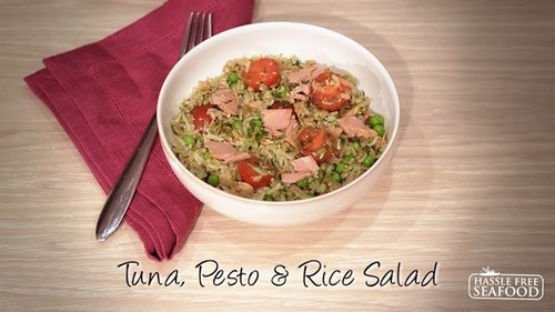 Tuna, Pesto & Rice Salad