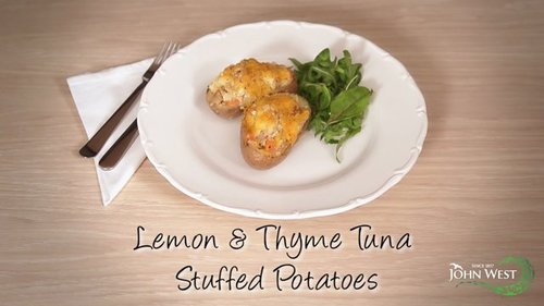 Lemon & Thyme Tuna Stuffed Potatoes