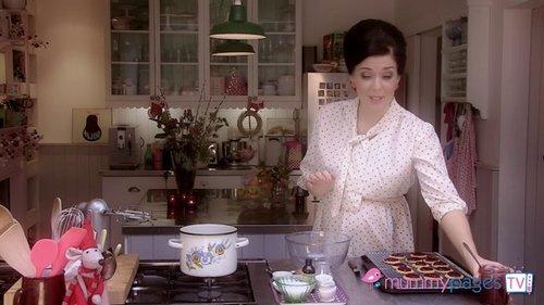 Choco-Mallow Tea Cakes