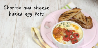 Chorizo and cheese baked egg pots
