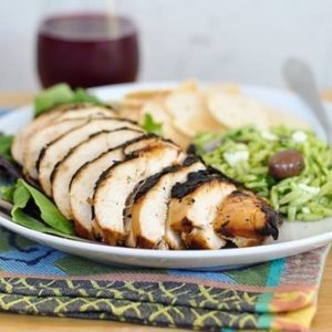 Succulent beer-brined chicken breasts
