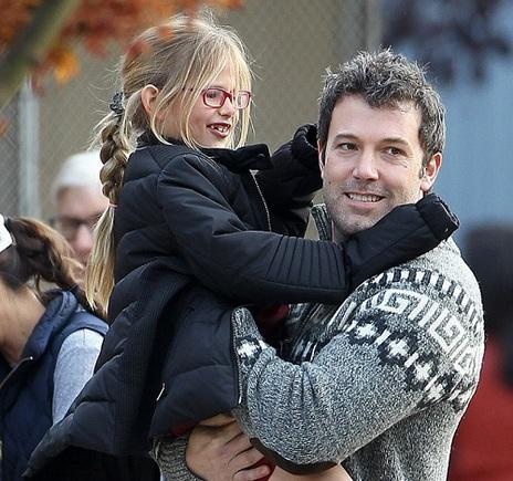 Ben Affleck with daughter Violet