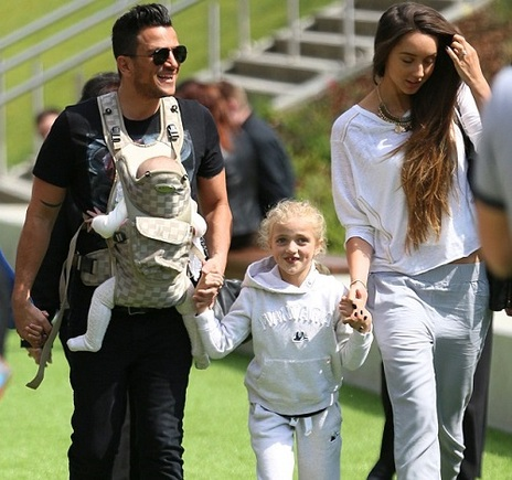 Peter Andre with Princess and Amelia