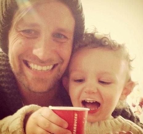 Kian Egan with son Koa