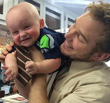 Chris Pratt with son Jack