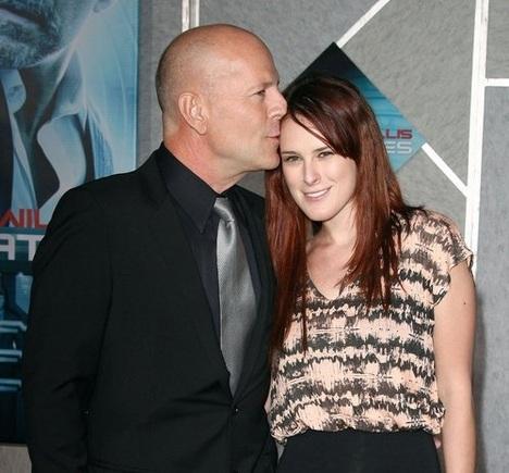 Bruce Willis with daughter Rumer