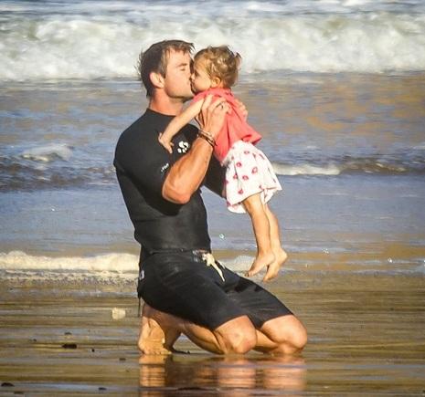 Chris Hemsworth and daughter India Rose