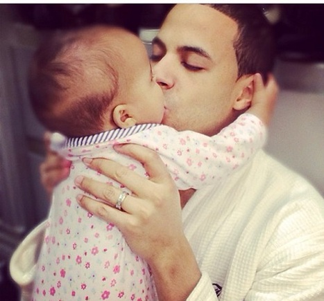 Marvin Humes and daughter Alaia-Mae