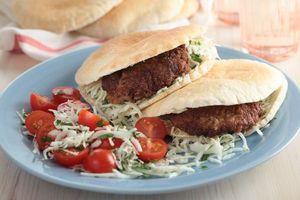 Greek pita burgers