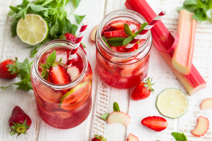 Rhubarb, mint and limeade