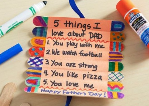 Father's Day roll-up card