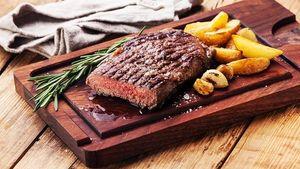 Irish beef rib-eye Piri-Piri, with Cajun sweet potato wedges