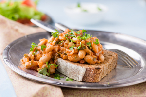 Homemade beans on toast