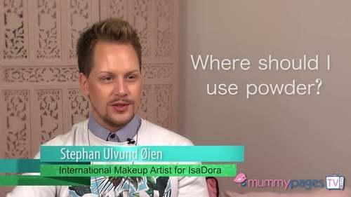 Where should you apply powder?