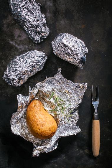 Perfect B.B.Q baked potatoes