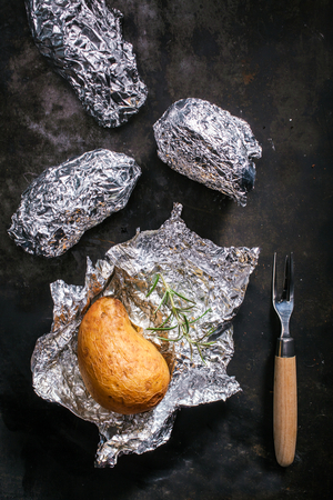Perfect B.B.Q baked potatoes